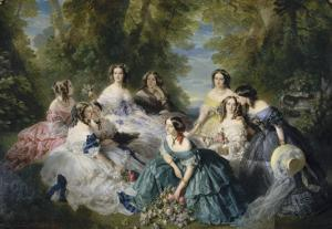 L'impératrice Eugénie entourée des dames d'honneur du palais by Franz Xaver Winterhalter