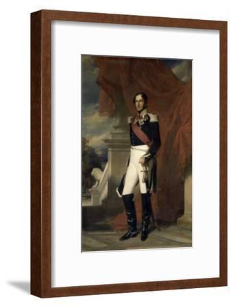Le duc de Saxe-Cobourg Gotha, Léopold Ier Roi des belges en 1831 représenté
