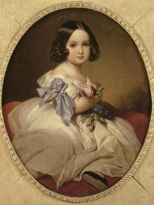 Marie-Charlotte-Amélie de Saxe-Cobourg et Gotha (1840-1927) future Impératrice du Mexique, by Franz Xaver Winterhalter