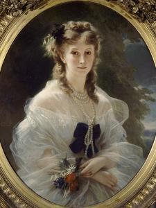 Portrait de la duchesse de Morny, née princesse Troubetzkoï by Franz Xaver Winterhalter