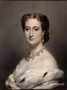 Portrait en buste de l'Impératrice Eugénie. by Franz Xaver Winterhalter