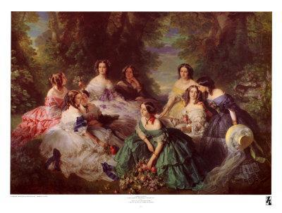 Portrait of Empress Eugenie Surrounded by Her Maids of Honor, 1855