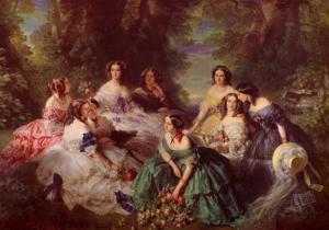 Portrait of Empress Eugenie Surrounded by Her Maids of Honor, 1855 by Franz Xaver Winterhalter