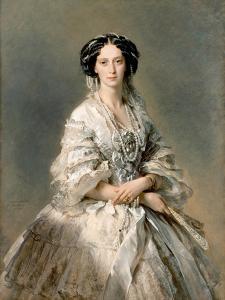 Portrait of Maria Alexandrovna, 1857 by Franz Xaver Winterhalter