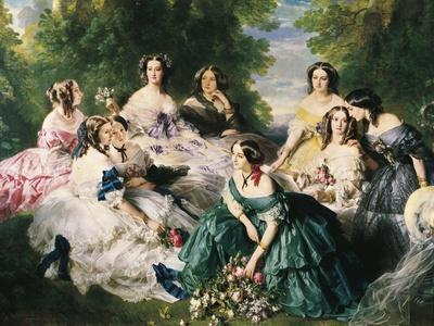 Portrait of the Empress Eugenie Surrounded by Her Ladies in Waiting