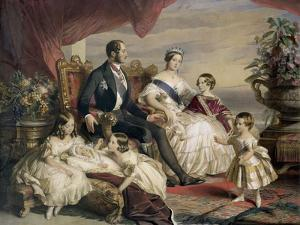Queen Victoria and Prince Albert with Five of the Their Children, 1846 by Franz Xaver Winterhalter