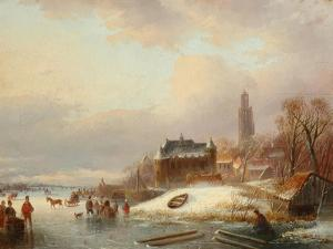 Snow Scene in Holland by Franz Xaver Winterhalter
