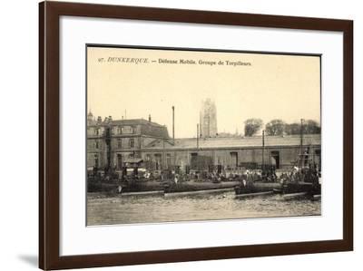 Französische Kriegsschiffe, Dunkerque, Torpilleurs--Framed Giclee Print