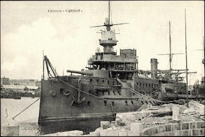 Französisches Kriegsschiff Carnot, Cuirassé--Giclee Print