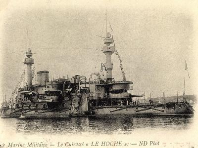 Französisches Kriegsschiff Le Hoche, Cuirassé--Giclee Print
