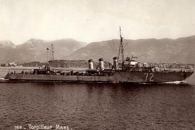 Französisches Kriegsschiff Mars, Torpilleur No 72--Giclee Print
