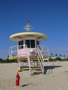 Art Deco Lifeguard Station, South Beach, Miami Beach, Florida, USA by Fraser Hall