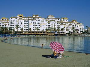Beach at Puerto Banus Near Marbella, Costa Del Sol, Andalucia, Spain by Fraser Hall
