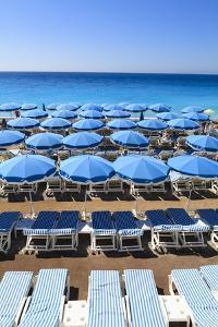 Beach Scene, Nice, Cote D'azur, France by Fraser Hall
