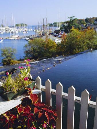 Camden Harbor, Maine, USA