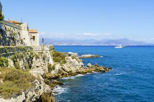 City walls, Antibes, Alpes Maritimes, Cote d'Azur, Provence, France, Mediterranean, Europe by Fraser Hall