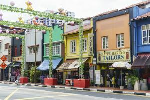 Colourful Shophouses in South Bridge Road, Chinatown, Singapore, Southeast Asia, Asia by Fraser Hall