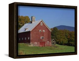 Exterior of a Large Barn, Typical of the Region, on a Farm in Vermont, New England, USA by Fraser Hall