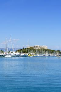Harbour and Fort Carre, Antibes, Alpes Maritimes, Cote d'Azur, Provence, France, Mediterranean, Eur by Fraser Hall