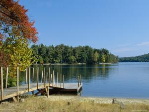 Jetty on Squam Lake, New Hampshire, New England, USA by Fraser Hall