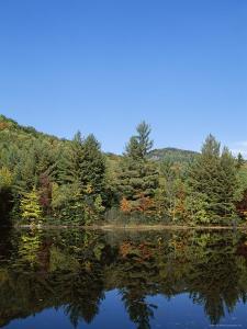 Lake Reflections, Near Jackson, New Hampshire, New England, USA by Fraser Hall