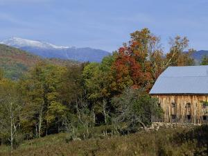 Landscape with the White Mountains in the Fall, Near Jackson, New Hampshire, New England, USA by Fraser Hall