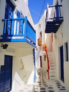 Mykonos, Mykonos Town, a Narrow Street in the Old Town,Cyclades Islands, Greece by Fraser Hall