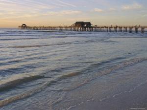 Naples Beach and Pier, Naples, Florida, USA by Fraser Hall