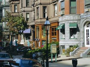Newbury Street, Boston's Premier Shopping Street, Back Bay, Boston, Massachusetts, USA by Fraser Hall