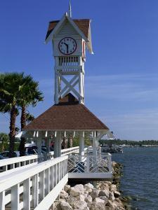 Pier and Clock, Bradenton Beach, Anna Maria Island, Florida, USA by Fraser Hall