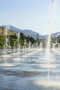 Promenade du Paillon, Nice, Alpes-Maritimes, Cote d'Azur, Provence, French Riviera, France, Mediter by Fraser Hall