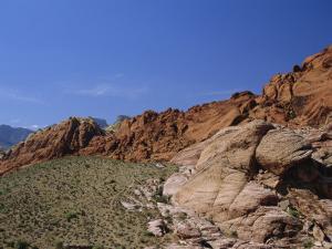 Red Rock Canyon, Spring Mountains, Mojave Desert, Near Las Vegas, Nevada, USA by Fraser Hall