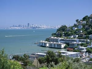 Sausalito, a Town on San Francisco Bay in Marin County, California, USA by Fraser Hall