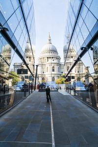 St. Paul's Cathedral from One New Change, City of London, London, England, United Kingdom, Europe by Fraser Hall