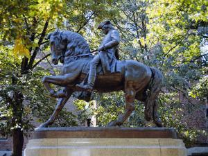 Statue of Paul Revere Near Old North Church, Boston, Massachusetts, USA by Fraser Hall