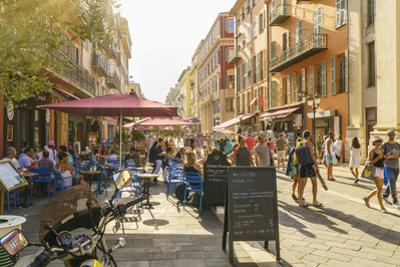 Street in the Old Town, Vieille Ville, Nice, Cote d'Azur, Alpes-Maritimes, French Riviera, France,  by Fraser Hall