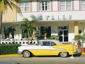 The Avalon Hotel, an Art Deco Hotel on Ocean Drive, South Beach, Miami Beach, Florida, USA by Fraser Hall