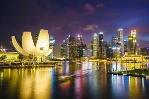 The Lotus Flower Shaped Artscience Museum Overlooking Marina Bay by Fraser Hall