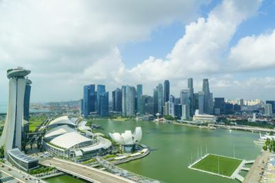 The Towers of the Central Business District and Marina Bay in the Morning, Singapore