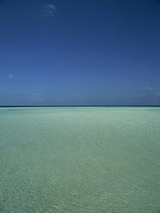 Turquoise Sea and Blue Sky, Seascape in the Maldives, Indian Ocean by Fraser Hall