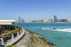 View from the Breakwater to the City Skyline across the Gulf, Abu Dhabi, United Arab Emirates by Fraser Hall