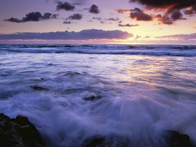Fraser Island Coast at Sunrise-Theo Allofs-Photographic Print
