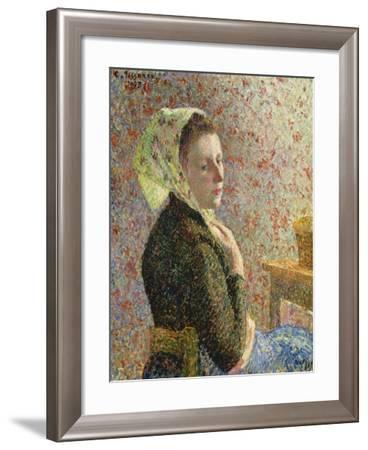 Frau Mit Gruenem Kopftuch, 1893-Canaletto-Framed Giclee Print