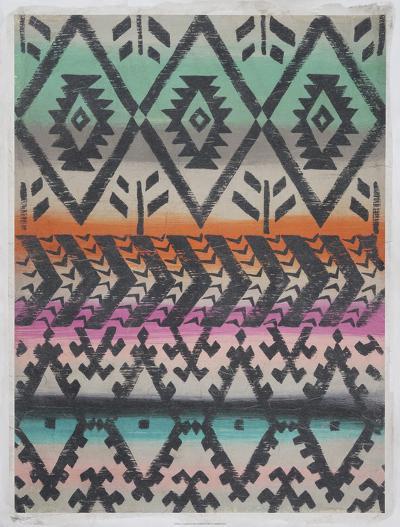 Frazada II (Embellished)-Chariklia Zarris-Art Print