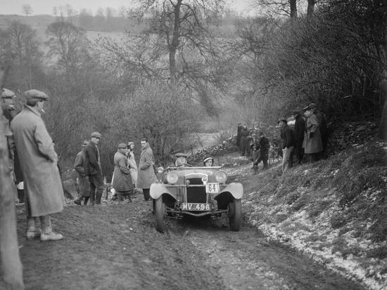 Frazer-Nash Boulogne II of P Lees competing in the Sunbac Colmore Trial, Gloucestershire, 1933-Bill Brunell-Photographic Print