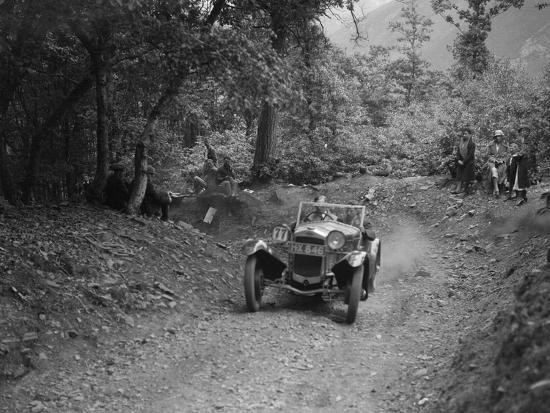Frazer-Nash Sportop taking part in a motoring trial, c1930s-Bill Brunell-Photographic Print