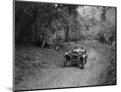 Frazer-Nash Sportop taking part in a motoring trial, c1930s-Bill Brunell-Mounted Photographic Print