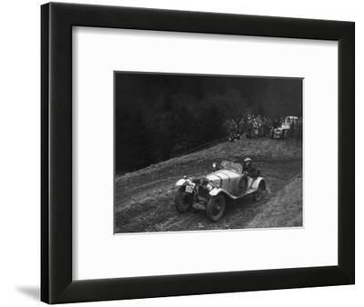 Frazer-Nash Super Sports of KM Roberts competing in the MCC Edinburgh Trial, 1938-Bill Brunell-Framed Photographic Print