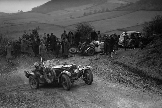 Frazer-Nash TT replica of TN Clare competing in the MG Car Club Midland Centre Trial, 1938-Bill Brunell-Photographic Print