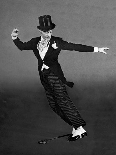 "Fred Astaire in Top Hat, Tails and Spats, Dancing ""Puttin' on the Ritz"" for ""Blue Skies""-Bob Landry-Premium Photographic Print"